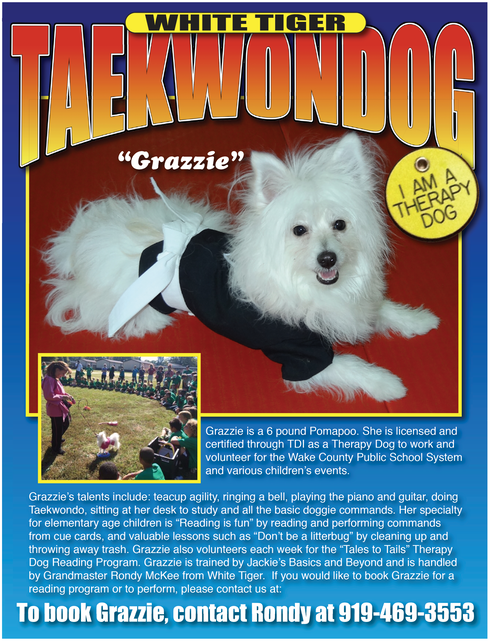 CERTIFIED THERAPY DOG | WHITE TIGER TAEKWONDO & MARTIAL ARTS