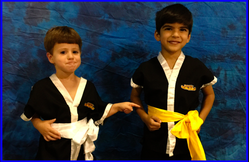 TIGER TOTS White Sash to Yellow Sash